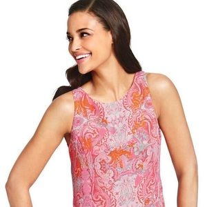 CAbi Style #127 Jubilee Paisley Pink Tank Top Med